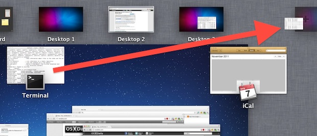 Create a new Desktop from an App via Mission Control