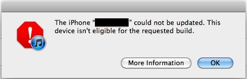 Fix Device isn't eligible build iTunes error