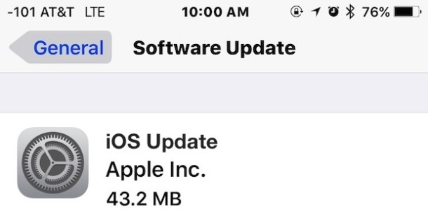 Installing iOS Software Updates with OTA