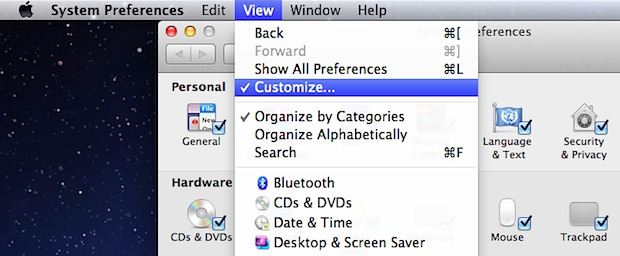 Hide System Preferences Mac OS X