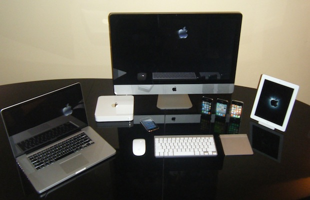 iMac, MacBook Pro, iPad, and lots of iPhones