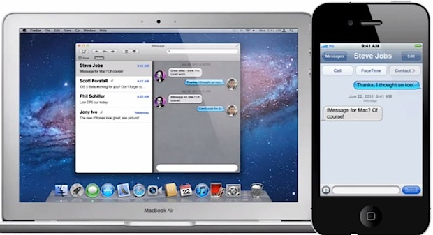 iMessage concept in Mac OS X