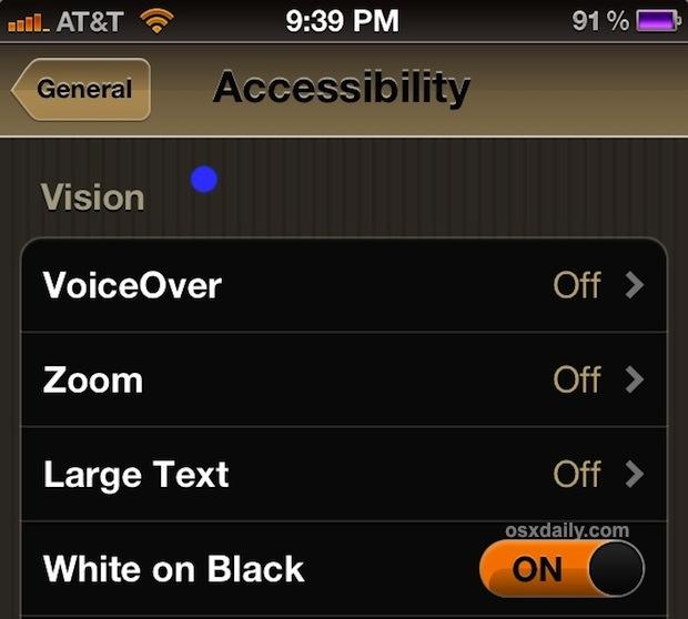 Invert iPhone or iPad Screen