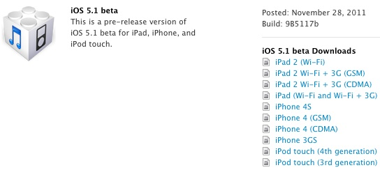iOS 5.1 Beta 1