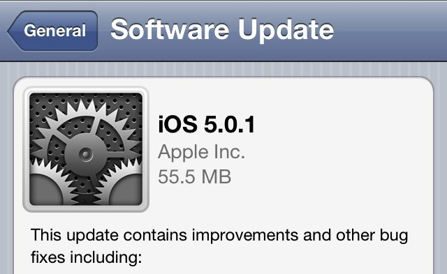 iOS 5 Download from OTA Update