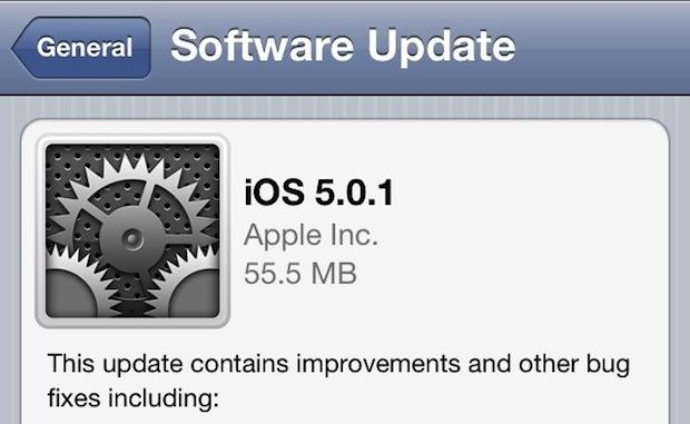 iOS 5 Download via OTA Update