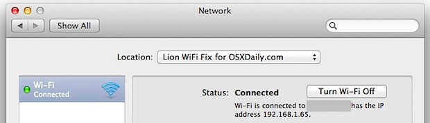Lion WiFi Problems Resolved