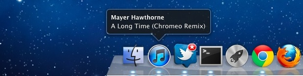 Now Playing iTunes Dock notification
