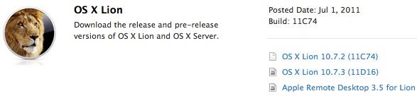 Mac OS X Lion 10.7.3
