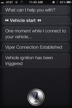 Siri Starting a Car