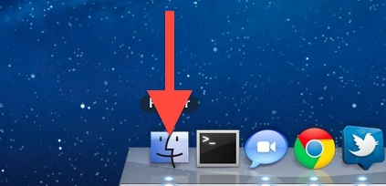 swipe down open app in the Dock to show Expose in Lion