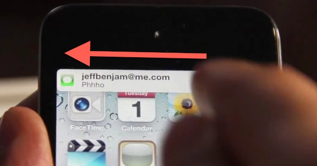 Swipe to dismiss notifications in iOS 5