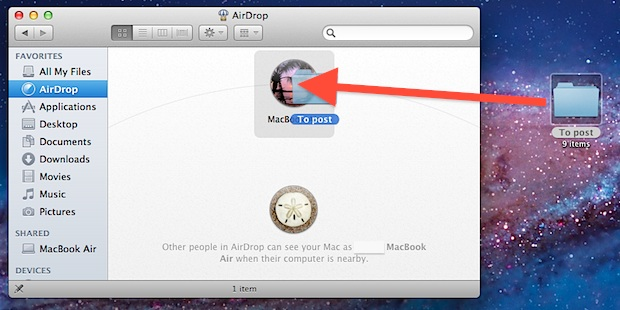 Use AirDrop in Mac OS X