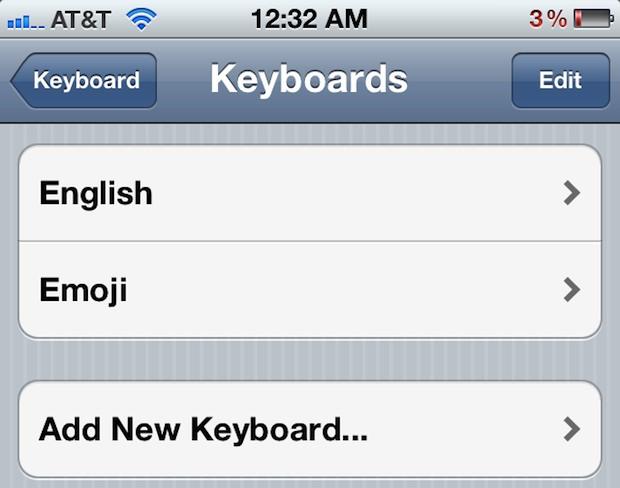 Add Emoji Keyboard to iPhone