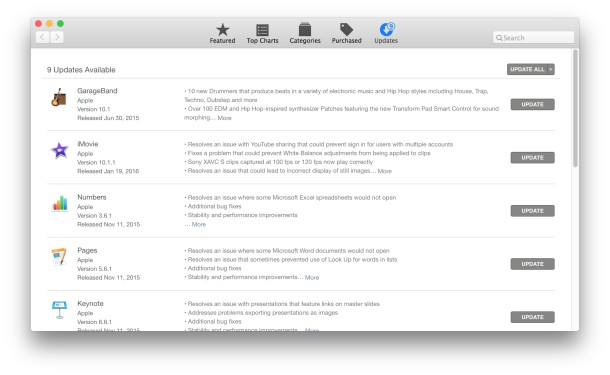 URL to go to Mac App Store Updates tab