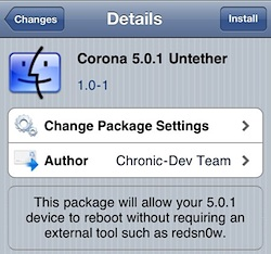 Corona Untether for iOS 5.0.1