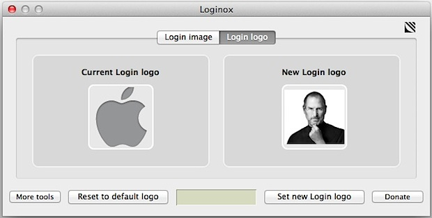 Customize the Mac OS X Lion Login screens icon