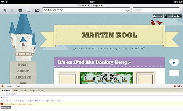 Firebug on iPad