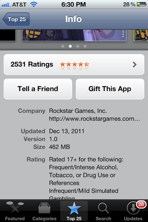 Gift iOS App from iPhone