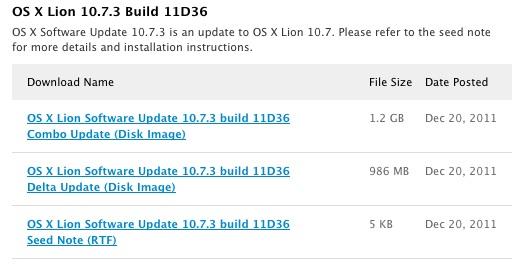 Mac OS X Lion 10.7.3 11D36