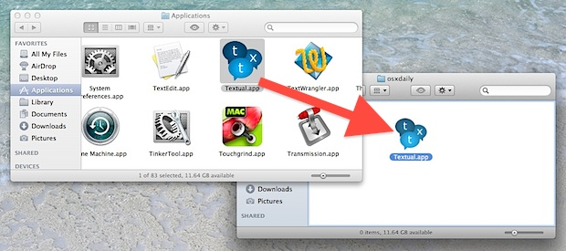 Move Applications out of the Applications folder in OS X Lion