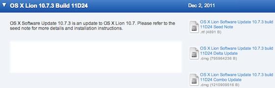Mac OS X 10.7.3 11D24