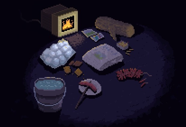 Pixel Fireplace