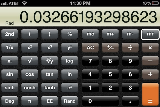 Scientific Calculator for iPhone