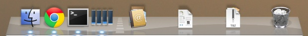 Spacers on the Right Side of the Dock in Mac OS X