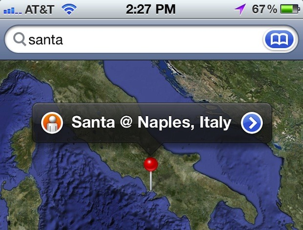Track Santa with iPhone or iPad