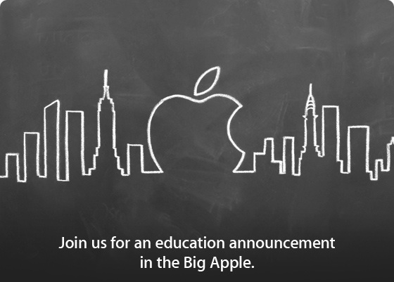 Apple education announcement invite