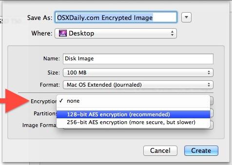 Disk Image encryption