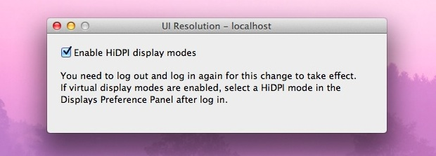 Enable HiDPI Resolutions in OS X Lion