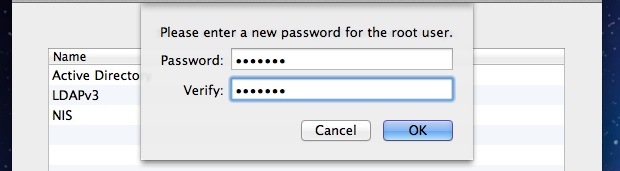 Enable the Root User Account in OS X title=