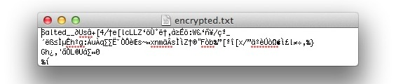 Encrypted file