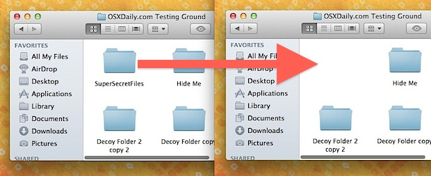 Hide Folders in Mac OS X