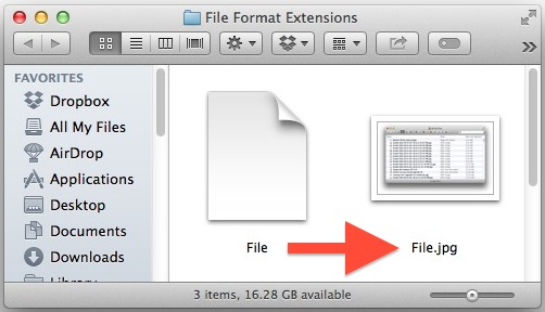 How to show file format extensions on a Mac