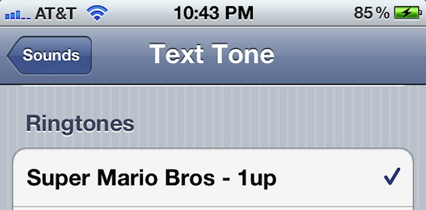 iPhone Text Tone