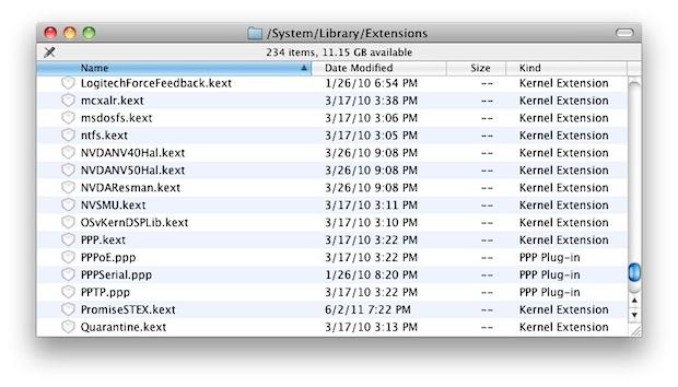 Kext files