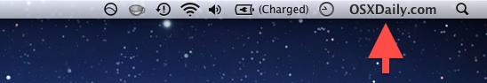 Name shown in the menu bar of OS X
