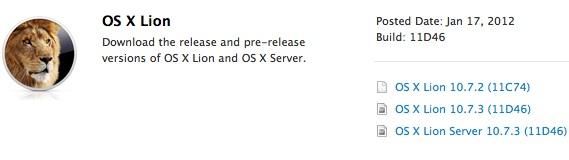 OS X Lion 10.7.3 Build 11D46