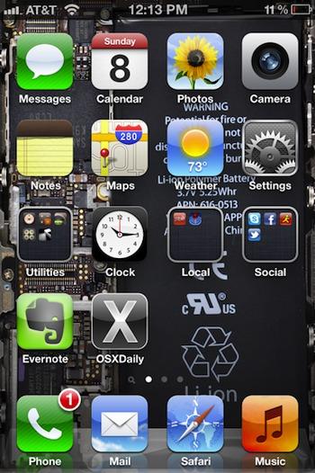 Transparent iPhone wallpaper