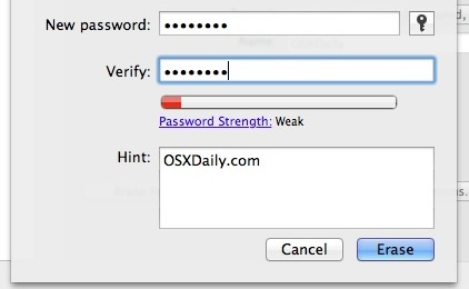 Set a disk password