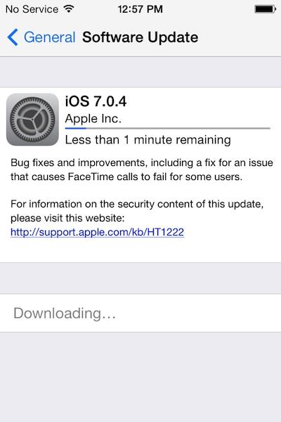 Using OTA update