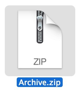 A zip archive in Mac OS X