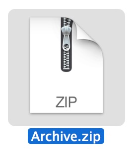 How to make a zip archive in Mac OS X