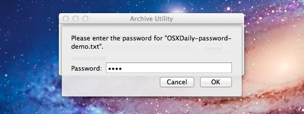 Zip Password in Mac OS X