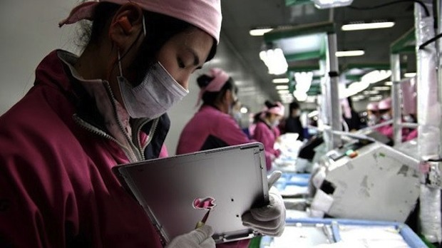 Apple products built in a Foxconn Factory