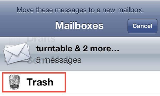 Delete Multiple Emails in iOS