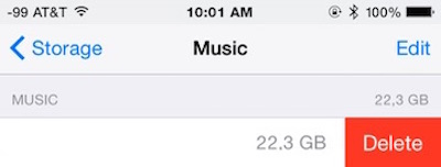 Delete All Music from iPhone